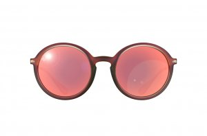 Очки Ray-Ban Youngster Round RB4222-6167-6Q Matt Transparent Red | Orange Mirror