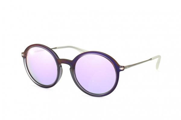 Очки Ray-Ban Youngster Round RB4222-6168-4V Matt Transparent Violet| Violet Mirror