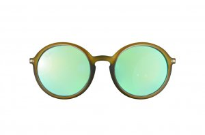 Очки Ray-Ban Youngster Round RB4222-6169-3R Matt Transparent Green| Green Mirror