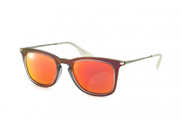 Очки Ray-Ban Youngster Wayfarer RB4221-6167-6Q Matt Transparent Red | Orange Mirror